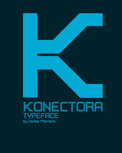 konectora typeface